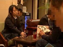 Asian Chick in Uniform Getting Toyed by Vibrator in Public