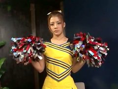 Lovely Asian Cheerleader Getting Toyed and Fingered