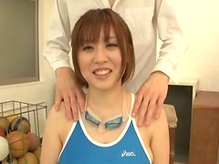 Busty Asian MILF Takes a Mouthful after Blowjob and Titjob