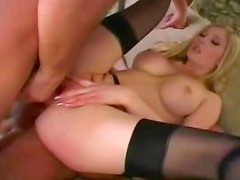 Monica Sweetheart and Michelle B anal foursome