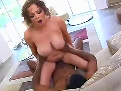 Katie Kox is super curvy and has great interracial sex