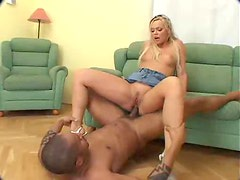 Blonde wants a fat black dick in her ass
