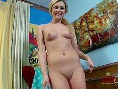 Chloe Lynn is a cute young blonde with hairless pussy