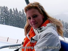Nathaly Teges travels to the snow