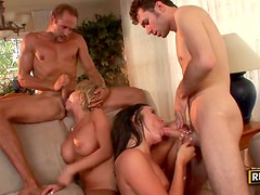 Sizzling sex with horny couples
