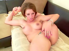 Sexy tattoo above her fucked cunt