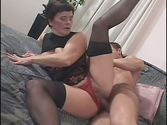 Fluffy brunette mature bitch Jozsefne takes it up her fat hairy cunt