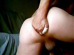 Anus stuffing with single n double dildos