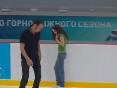 Long haired curly hot chick skates and dreams about tough fuck