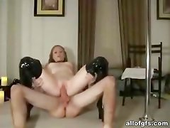 Fetish sex in leather boots with naughty GF