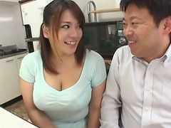 Busty Mature Slut Mizuki Ann Sucks Dick Under the Table