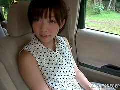 Pretty Asian Mana Sakura Getting Fucked Outdoors and in the Car