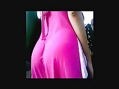 Big bubble butt teen with pink skirt