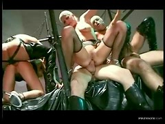 Fetish hardcore orgy with hot anal action