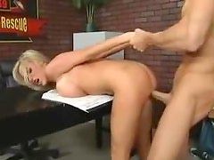 Horny boots babe Nikki Benz firefighter fuck