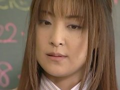Sexy Teacher Manami Gets Creampied In A Threesome