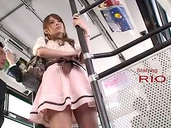 Gorgeous Elegant Asian Babe Touched Viciously in the Public Bus