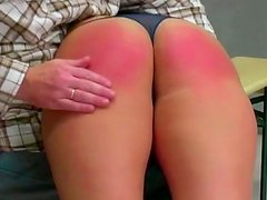Busty babe is getting her pussy and ass spanked