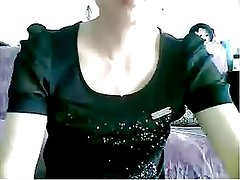 Chinese MILF flashes in black dress