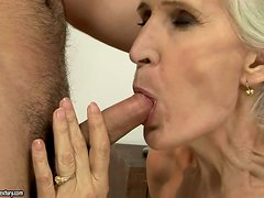 lustful grandmother takes a hard cock up her old-ass gash
