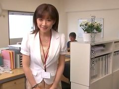 Lovely Asian Office Lady Wants a Load of Cum on Her Hands