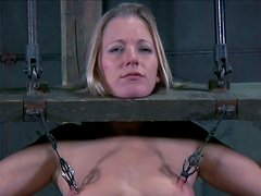 Nipples tortures and pillory fun with filthy strumpet Dia Zerva