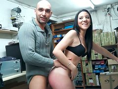 Desire Sevilla fucks a stanger in his store