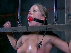 Awesome doggystyle BDSM game with blonde sexpot Dia Zerva