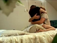 Delicate Asin chick Mako Wakatsuki has a foreplay on the bed