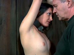 Hailey Young is stretched and thrusted in her mouth
