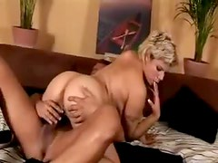 Marvelous big lubed tits on blonde
