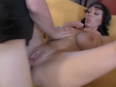 Naughty milf moans for big cock inside her