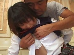 Perky teen Ai Tohno is seduced by her teacher and fingered actively