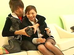 Asian business woman Asahi Miura is seduced by delivery guy