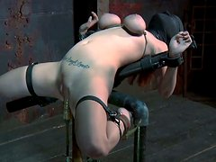 Always horny bitch Ashley Graham is punished in a hardcore BDSM video