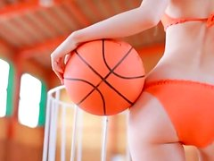 Amazing basketball player Rina Akiyama shows her smooth ass