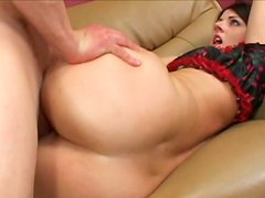 Ugly boobs of slutty nympho Sophie Dee bounce while she rides a cock