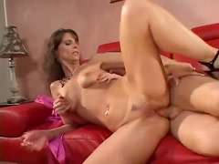 Hot milf lets him have her ass hard