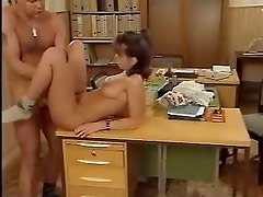 She gives up her cunt in his office