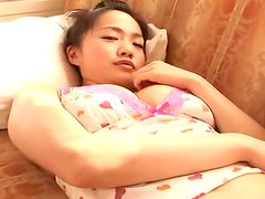 Young Japanese cutie Yazapai in flirty lingerie flirts with camera