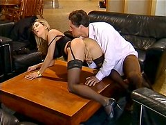 Ardent housewife Luscious Tracy rides a cock like a whore