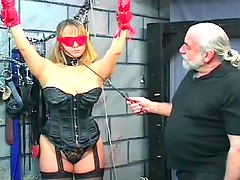 Azotaina - Alluring tied babe being impaled and humiliated