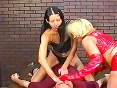 Hardcore brunette is sitting on the face of her friend