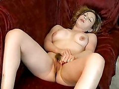 Alluring bitch loves tormenting her juicy moist pussy