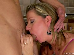 mature woman has her pussy licked and fucked