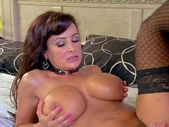 Lisa Ann is one dangerously sexy milf with massive tits