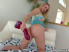 Attractive playful and smoking hot blonde babe Charlee Monroe with