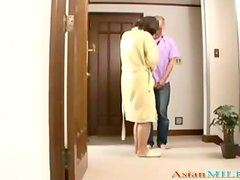Milf Giving Blowjob For Guy At The Corridor In The House