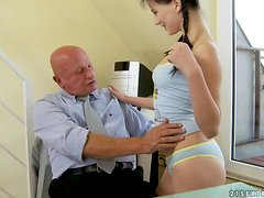 High Love with a sensual brunette and her old friend