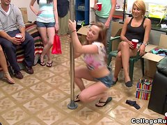 Hot sex party in the college dorm with sexy sirens